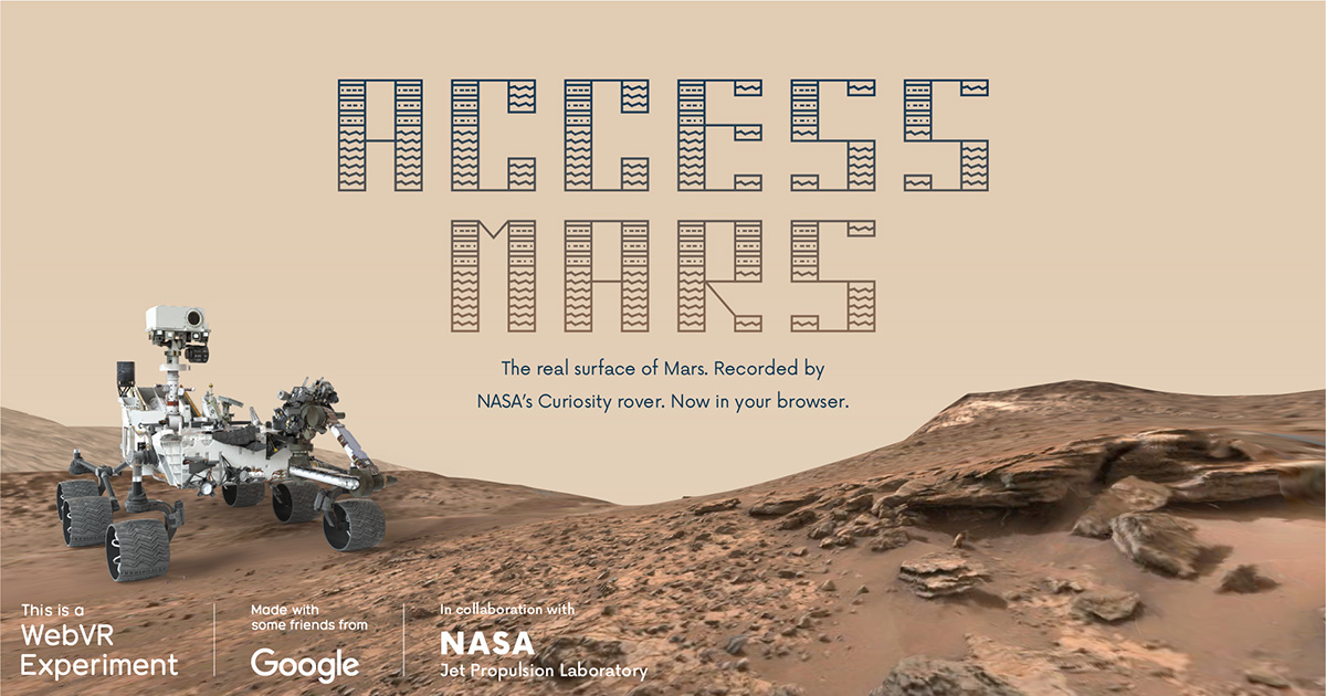 Access Mars: A WebVR Experiment